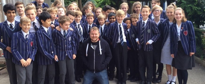 VISIT FROM MARK GRIST