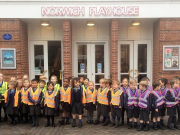 Reception visit the Norwich Playhouse