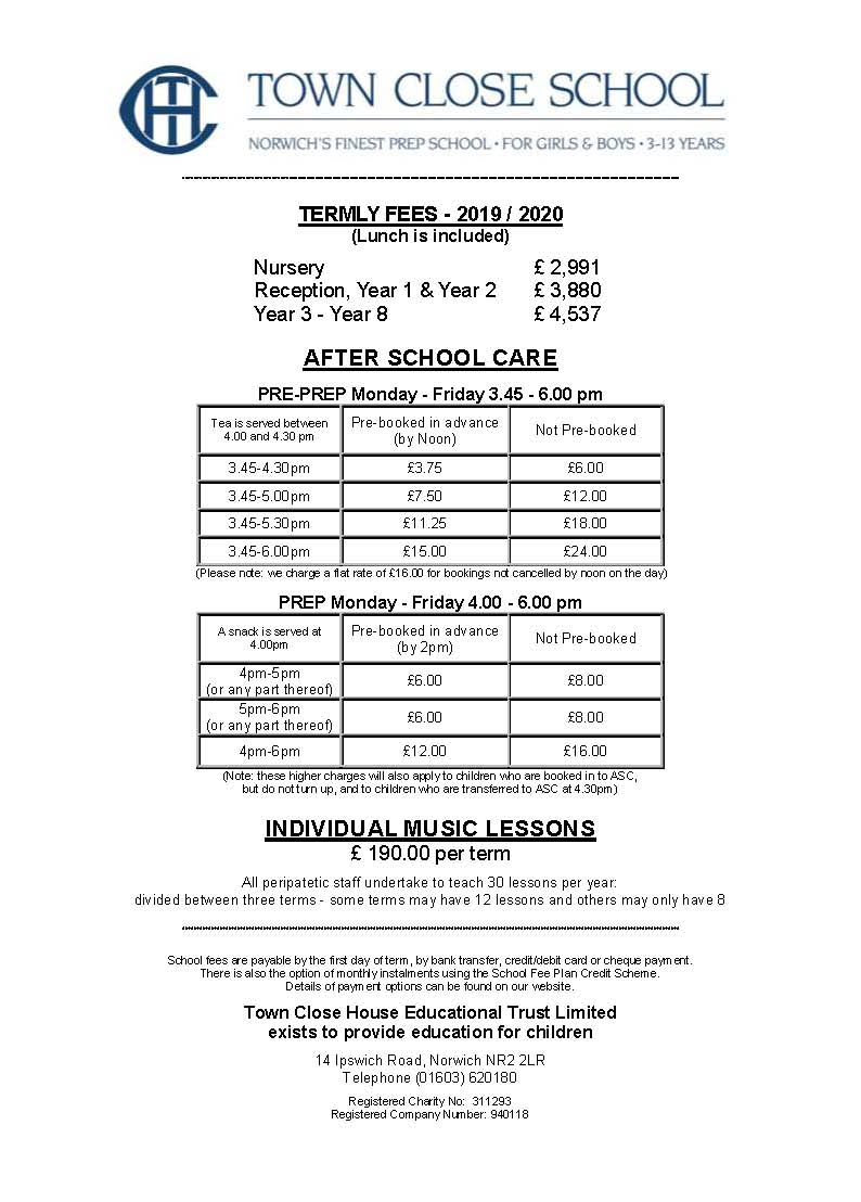 Termly Fees And Other Charges