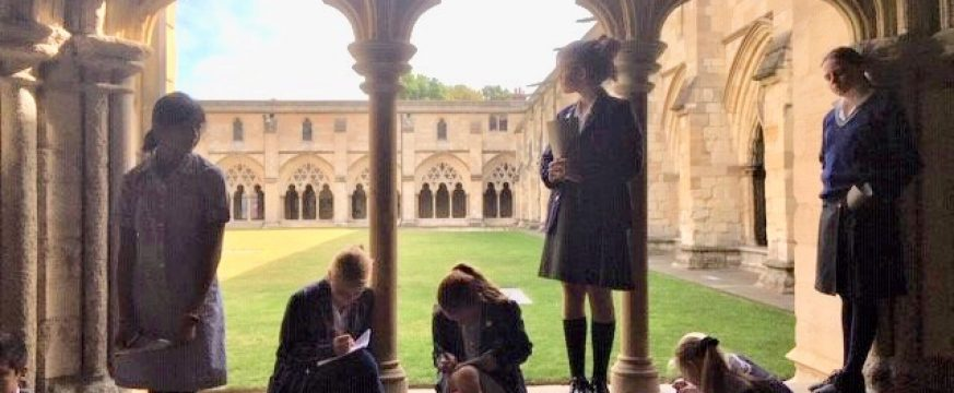 Year 8 enjoy a guided walking tour of medieval Norwich
