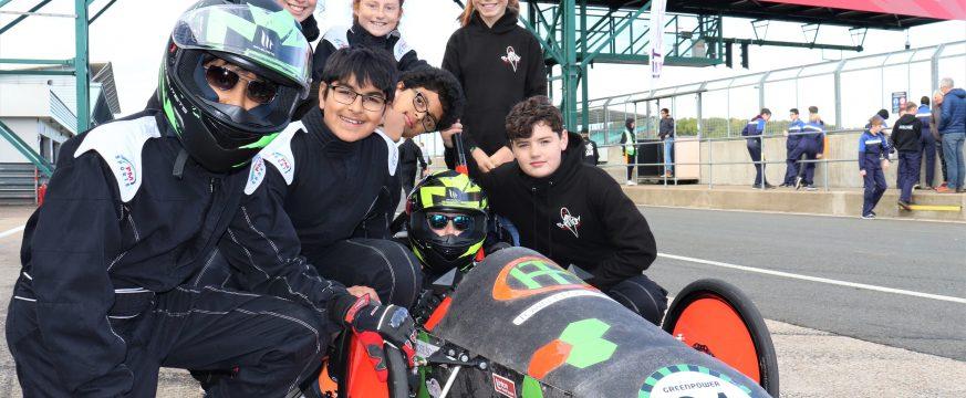 Town Close School celebrate their Silverstone motor racing success!