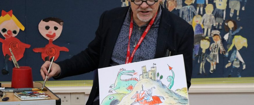 Author and Illustrator James Mayhew visits Town Close School