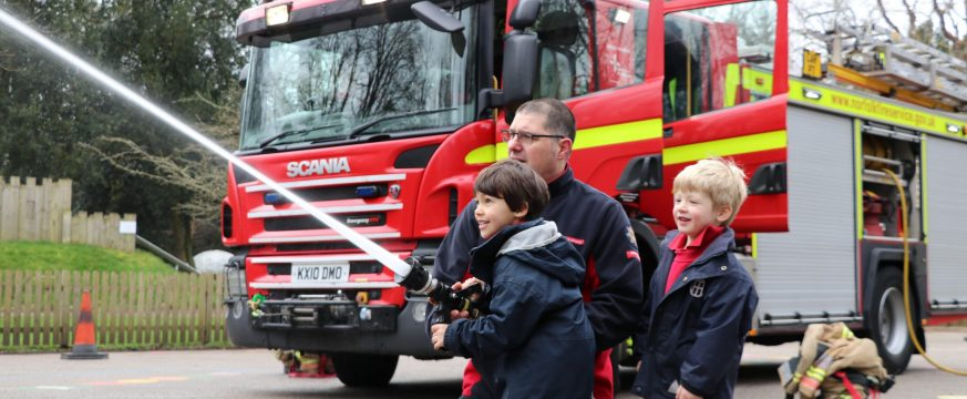 The Norfolk Fire and Rescue Service visit Town Close Pre Prep!